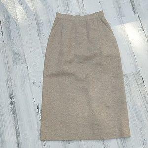 Vintage 80s 90s Christian Dior Angora Pencil Skirt